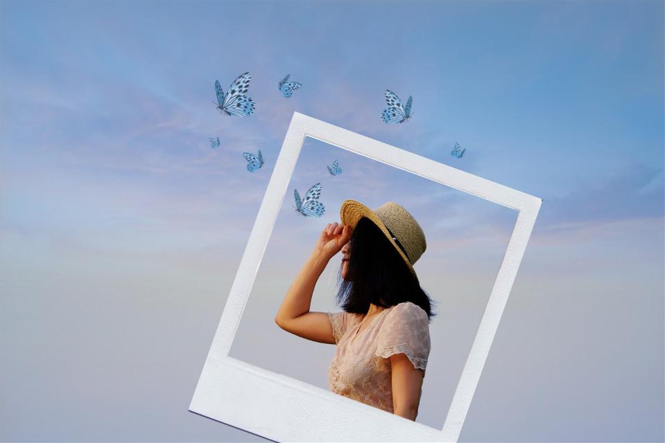 #polaroidframe#butterflys