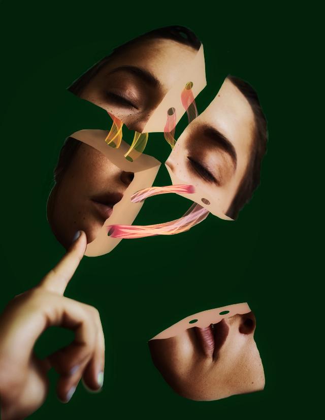 #woman #portrait #ribbon #broken  Op by @freetoedit 💖💖