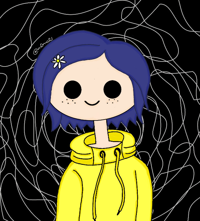 #freetoedit #coraline#drawing #yello#dark #girl
