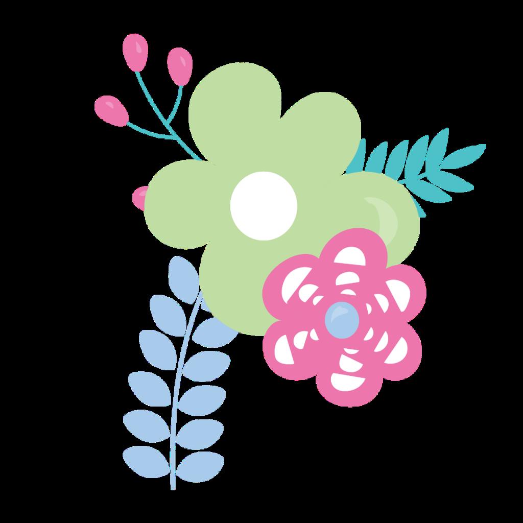 Vector Flor Flores Floral Pastel