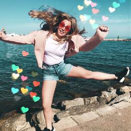 freetoedit summer happyface bokehheartbrush