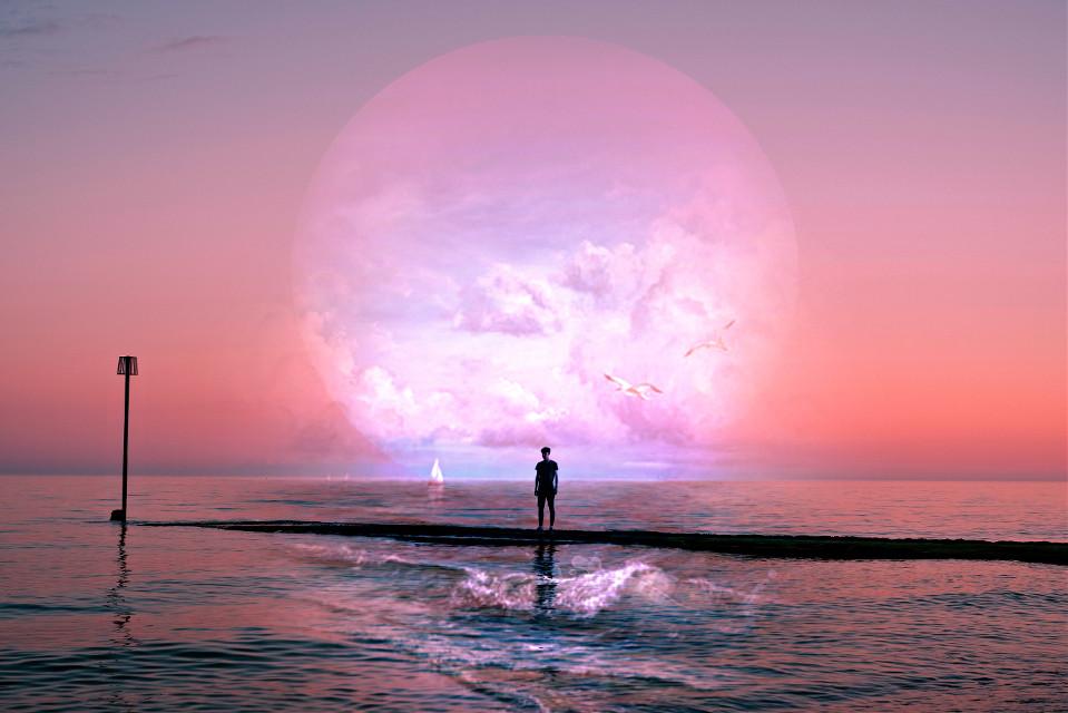 #freetoedit #sunset #sea #curvestool #madewithpicsart #myedit