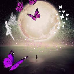 butterfly fairy mond freetoedit