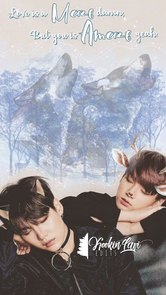 """requests open 🌾   name : yoonkook     made up of : min yoongi, jeon jungkook identity : wolf yoongi, deer jungkook       """" Love is a maze damn, but you is amaze yeah. """"                                                    🌸   I've had this edit done for days I've just been too lazy to post it lmao! But here it is enjoy sweeties. 💕   Imma start working on requests again lol 🌸🌾   wolves © : taliafera deer © : sona75 ears © : pendulum_princess, sherry420 words © : phonto   #yoonkook #jeonjungkook #minyoongi #yoongi #suga #agustd #jungkook #bts #btsedit #btsarmy #army #edit #kpop #kpoparmy #kpopedit #wolves #deer"""
