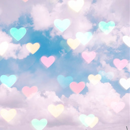bokehheartbrush love herz himmel tumblr freetoedit