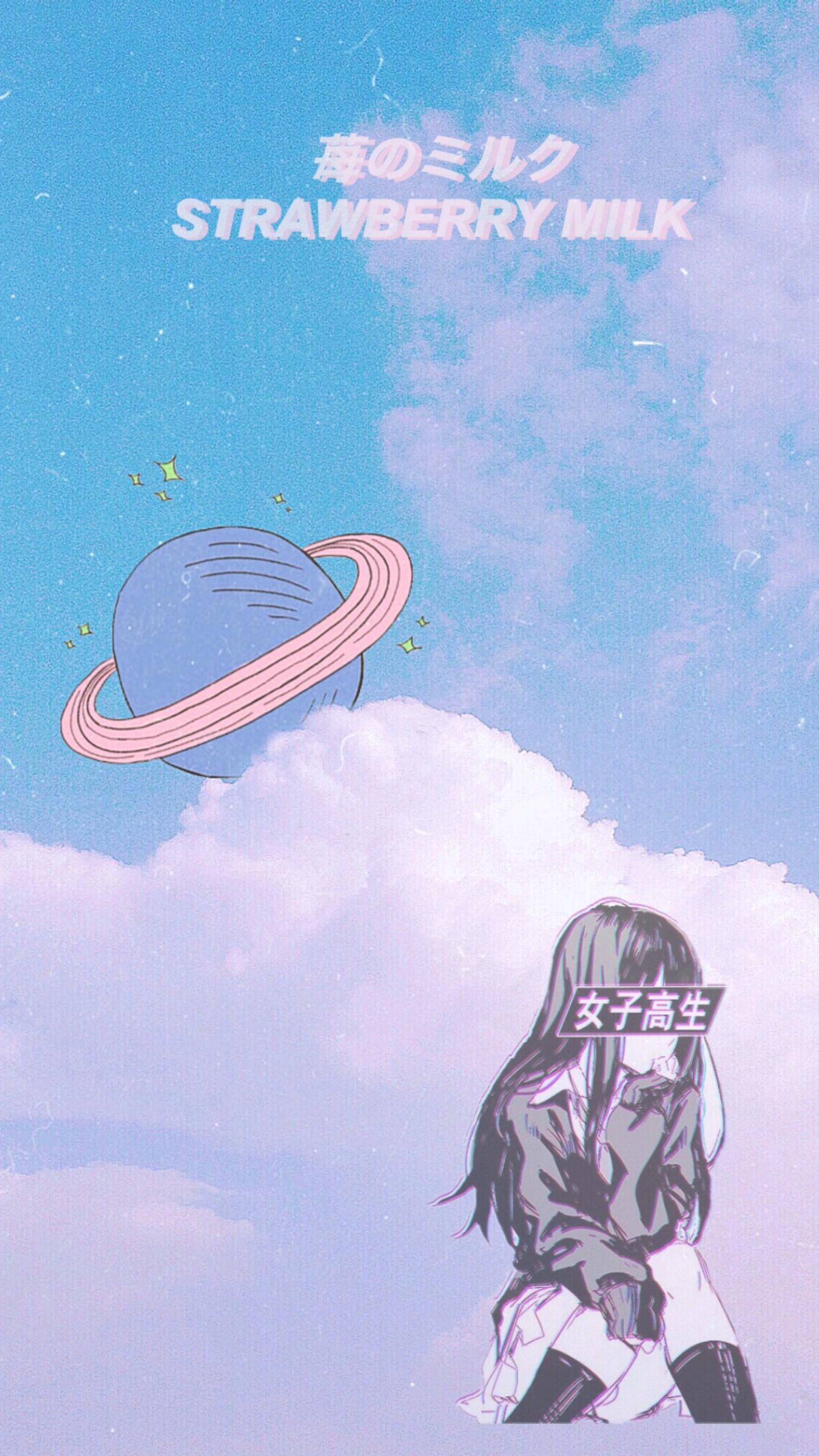 Aestheticbackground Anime Phonebackground Wallpaper Ani