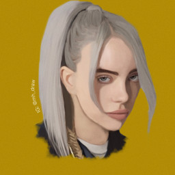 billieeilish billieeilishedit billieelishdrawing art digitaldrawing freetoedit