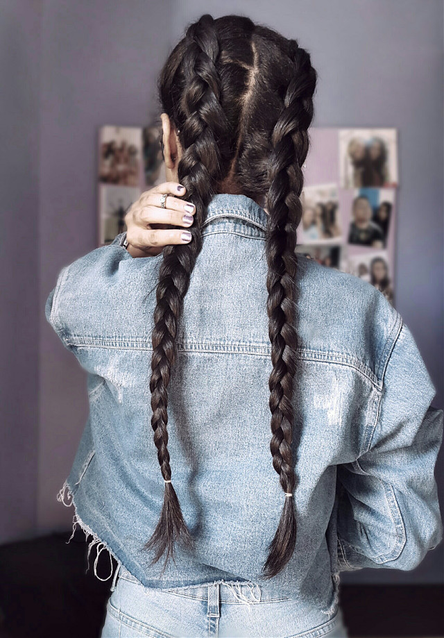 #me #jeans #forever21 #hair #longhair #model #braids #freetoedit  #pchairaccessories #hairaccessories