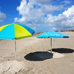 beachday happyweekend umbrellas freetoedit