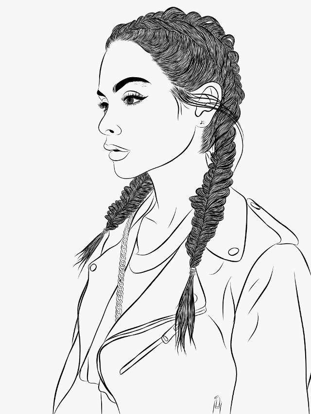 #girl #sketch #digitalart  #pencilart #blackandwhite #love #freetoedit #drawing #outline