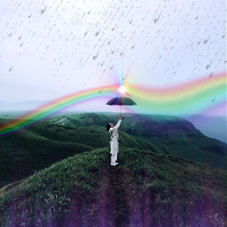 freetoedit rainbow rain umberella light ircblackumbrella