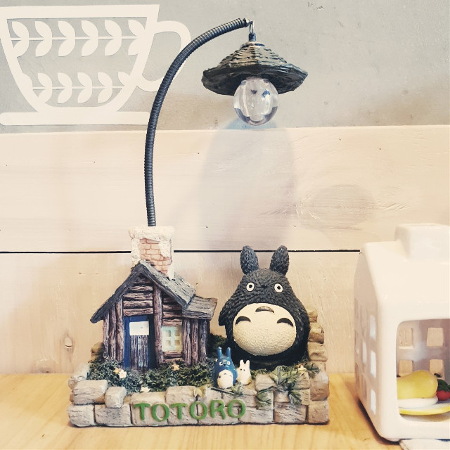 #freetoedit  #totoro #house #vintage #light #cafe #interior