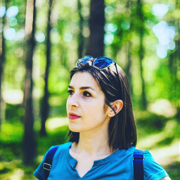 freetoedit forest trees model woman