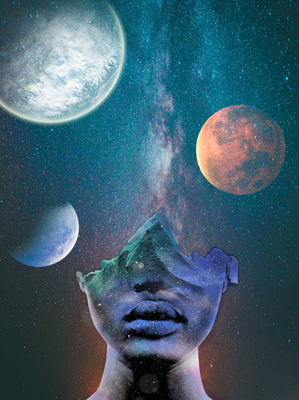 freetoedit galaxy face effects space magic stars planet
