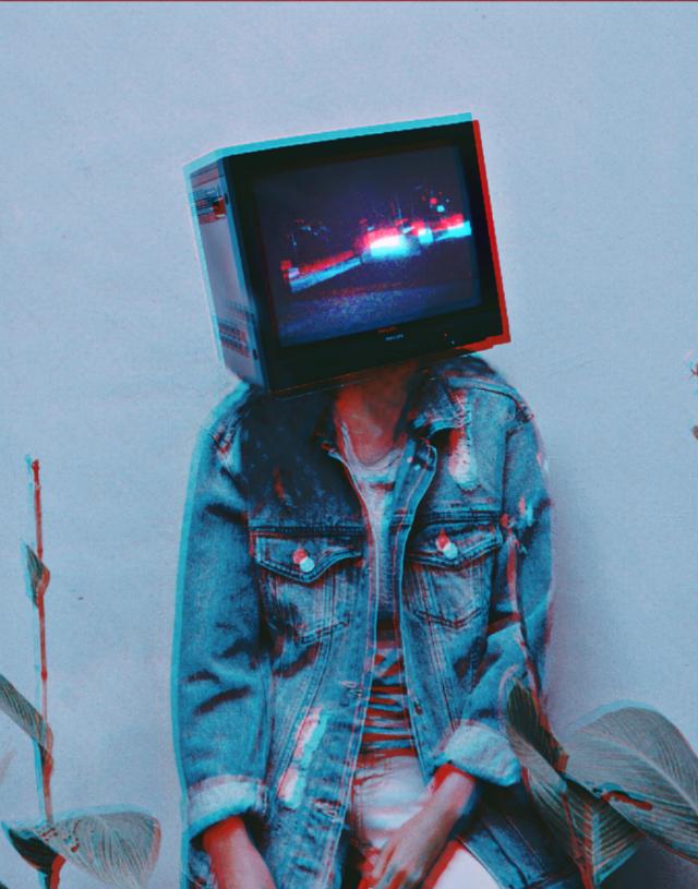 #freetoedit #tumblr #surreal #tv #retro #creative #glitch
