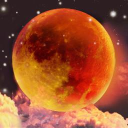 freetoedit bloodmoon bloodmoon2018 bloodmooneclipse