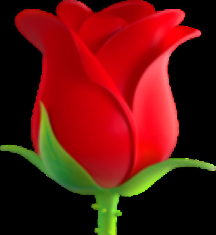 Emoji Fleur Rouge Sticker By