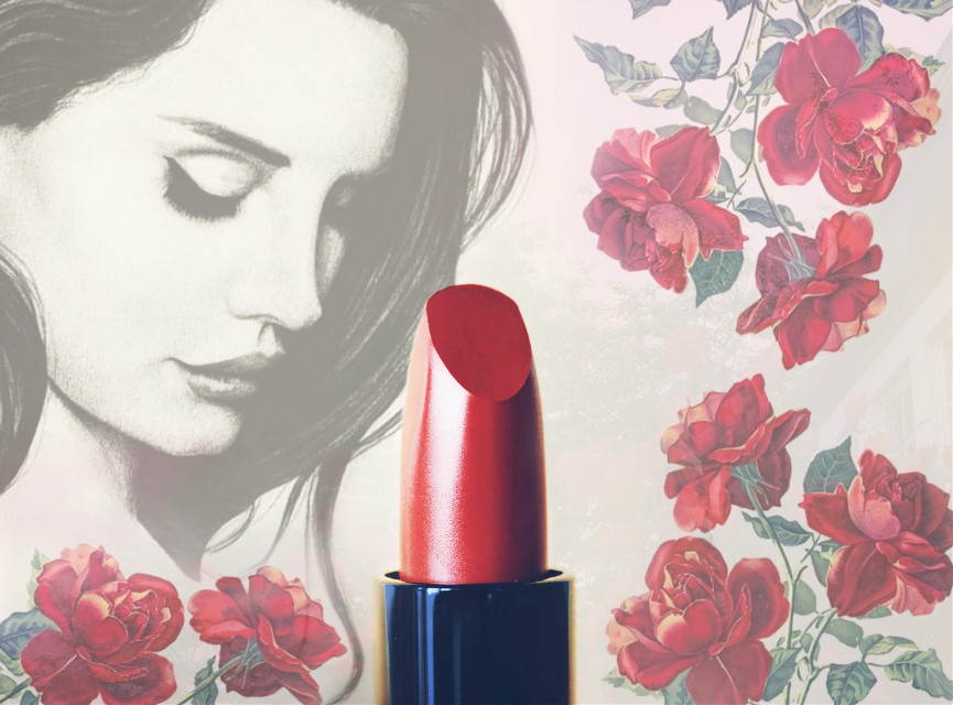 #lanadelreyedits #lanadelrey #roses #lipstick #freetoeditedit