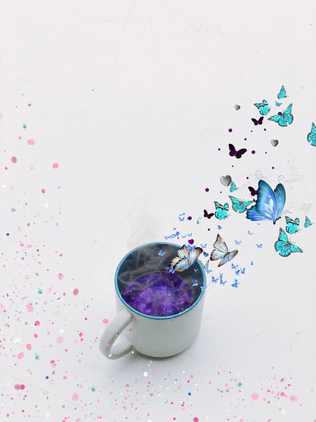 #freetoedit #mug #galaxybrush #smoke #butterflies #butterflybrush #confettibrush #confetti