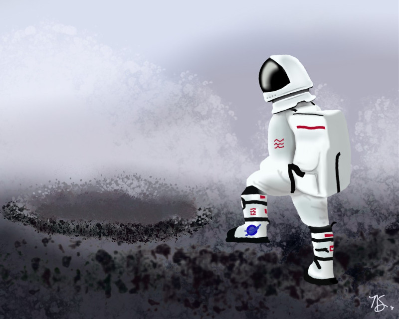 #mydrawing #moon #astronaut #spacesuit #dclifeonthemoon #lifeonthemoon #freetoedit