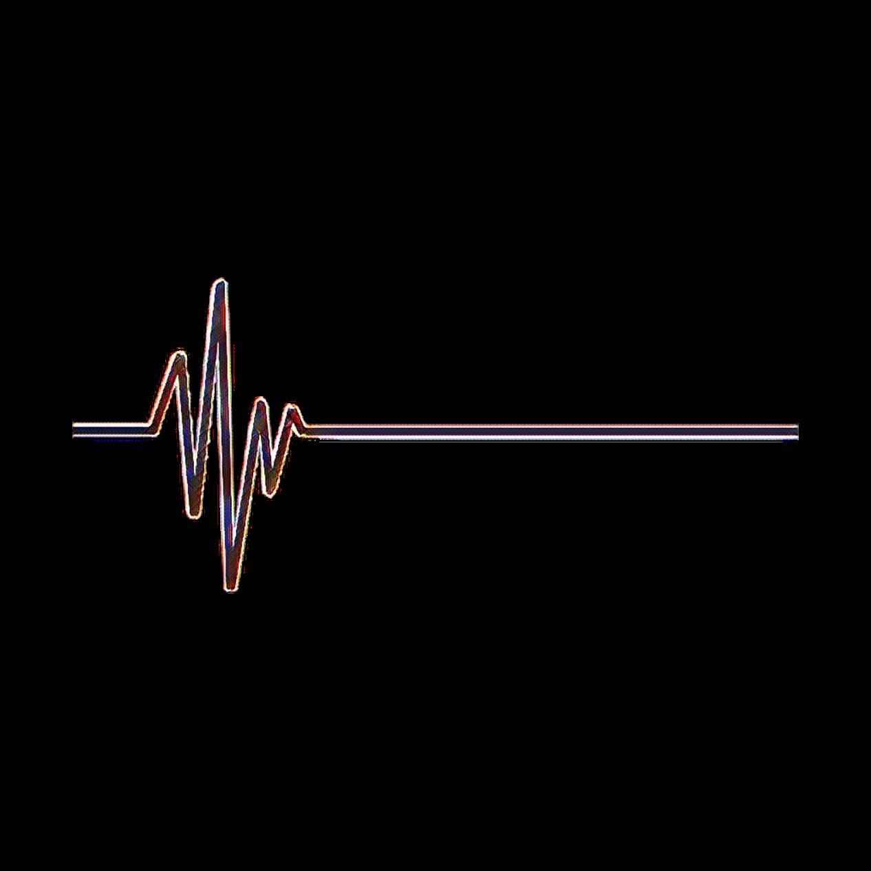 Heartbeat Line Drawing: Heartbeat Line Stickers Decoration