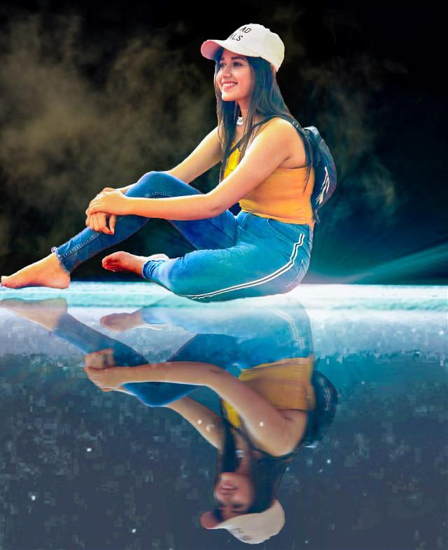 #freetoedit #remixit #girl #mirror #background