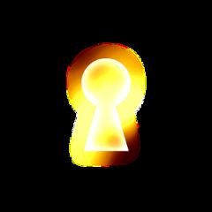 key keyhole hole glow sunlight
