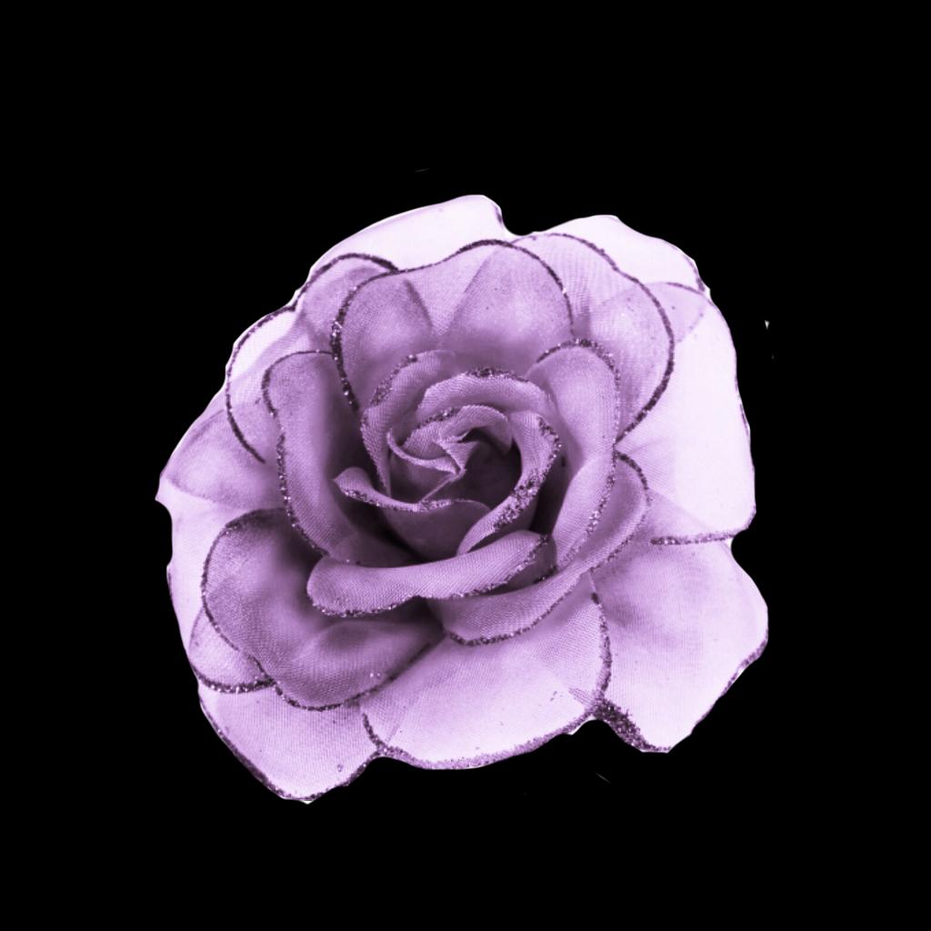 Flower Rose Purple Pink Glitter