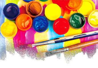 ftestickers art paint paintbrushes colorful