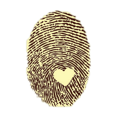 fingerprint yellow vintage heart love