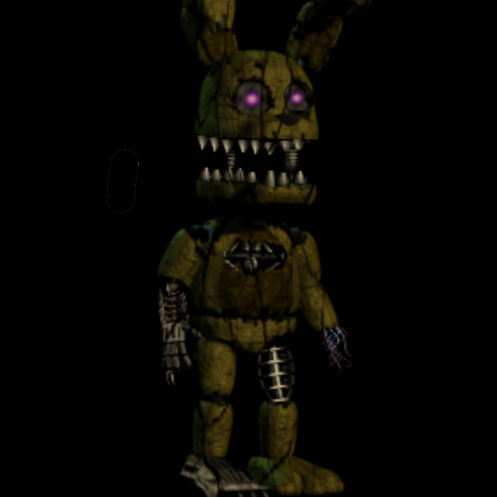 Nightmare Plushtrap Updated Image By Redfoxeditz