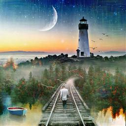 freetoedit reflection boat forest trainway