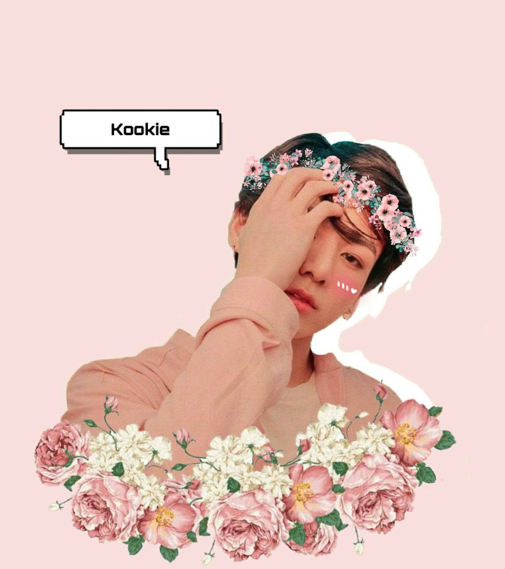 Requested by:Bedour Taha🌸 In loooove😍😍😍 He's just a handsome,beautiful,cute,amazing boy and talented in everything💖 Requests door is open😉 #freetoedit #bts #bangtan #bangtanboys #jungkook #kookie #jungkookbts #kookiebts #pink #flowers