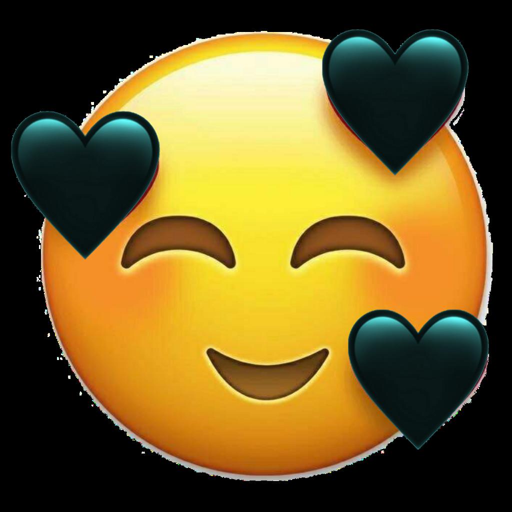 Emoji Cœurheartapple Noir Blak Cute