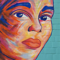 streetart paint graffiti woman colorful