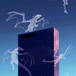 dragon picsart freetoedit dragonfly skyscraper