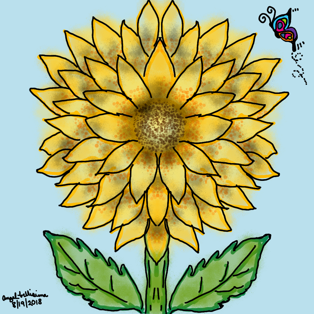 Sunflower #mydrawing #illustration #art #sketch #digitalart #drawingart #illustrationdaily #artistic #myart #digitaldrawing #dibujo #dibujar #dibujante #arte #artistico #ilustración #toptags