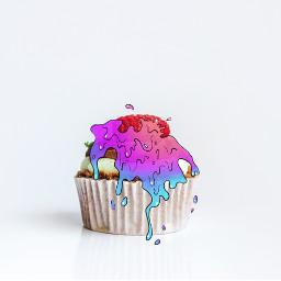 freetoedit melting slime irccupcakeday cupcakeday