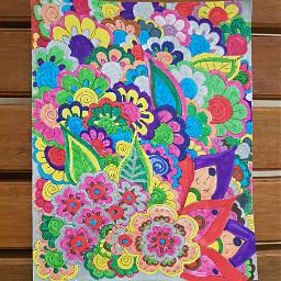 colorpaint colorful flores