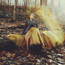 modeling outdoors romantic victorian fantasy