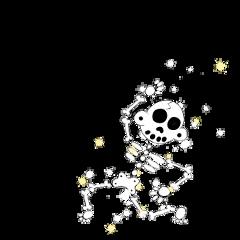 skeleton sparkle dance zanoskull bones freetoedit