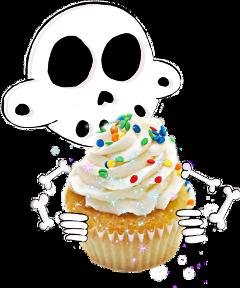 skeleton zanoskull bones cupcake birthday freetoedit