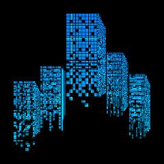 mq blue building city town freetoedit