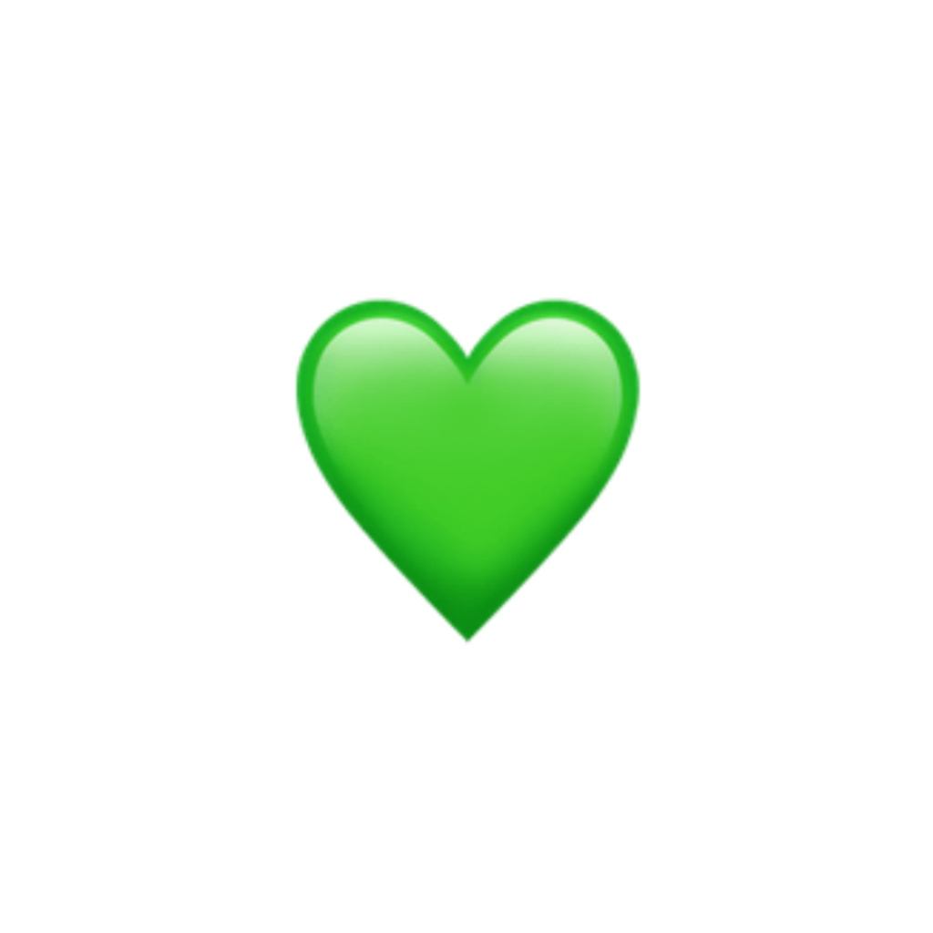 Green Heart Cute Hearts Emoji Apple Imoji Applemoji