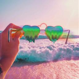 freetoedit sunglasses heart summer sunny