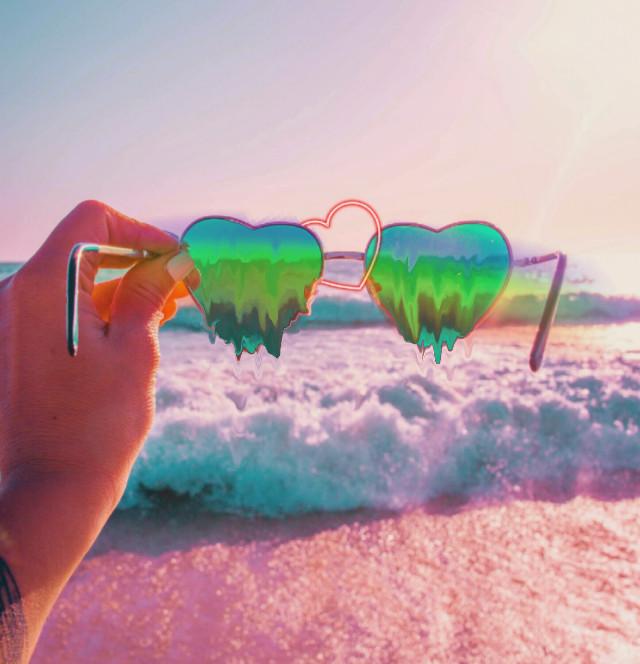 #freetoedit #sunglasses #heart #summer #sunny #beach #melting #heartmelting