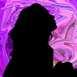 freetoedit woman silhouette colorfulbackground abstract