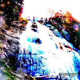 freetoedit stepbystep waterfall eyes dobleexposición