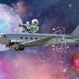 freetoedit galaxy stars ircsilverairplane silverairplane