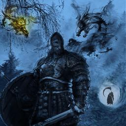freetoedit viking muerte dragones fantasia
